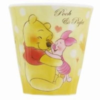 ◆ラブリーフレンズWプリントメラミンカップ(プー/ピクレット)ディズニー)マグカップ プラスチック コップ スタッキン(A192)