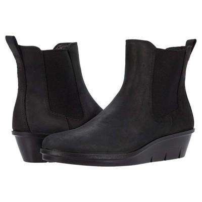 エコー Skyler Wedge Chelsea Boot レディース ブーツ Black