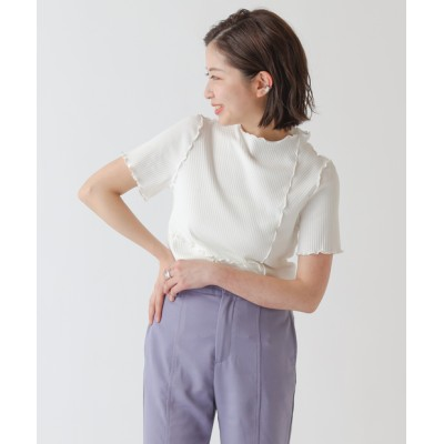 ランダムテレコリブメローリンキング半袖Tシャツ