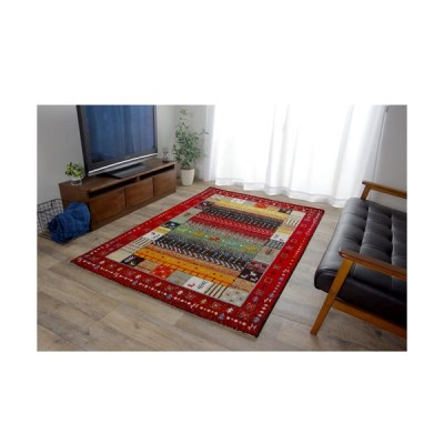 イケヒコ・コーポレーション トルコ製ウィルトン織カーペット『イビサ』/2348339 レッド/160×230cm
