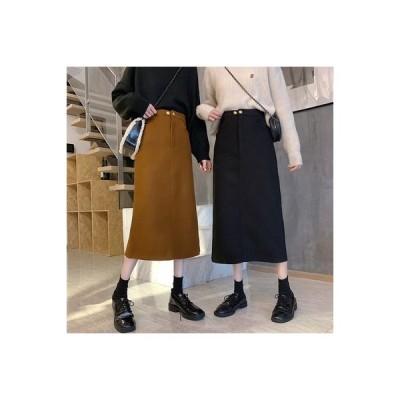 【送料無料】スカート 秋冬 日 と セーターの女性 年 ハイウエスト 羊毛の 裾 ア | 364331_A64381-2771578