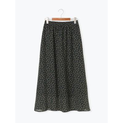 マルチカラー小花柄ギャザースカート