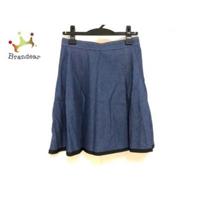 チェスティ Chesty スカート サイズ1 S レディース 美品 - ダークネイビー×黒 ひざ丈/プリーツ   スペシャル特価 20210103