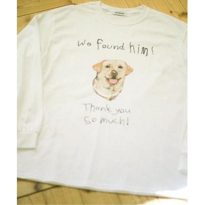 オリエンス ジャーナルスタンダード 【LOVE MY DOG】ロングスリーブ Tシャツ ホワイト A M
