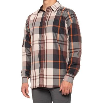 エクスオフィシオ ExOfficio メンズ トップス BugsAway Five Rivers Shirt - UPF 50, Long Sleeve Brown Stone