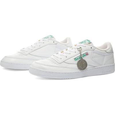 リーボック Reebok メンズ スニーカー シューズ・靴 Club C 85 White/Glen Green