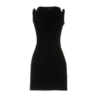 ディースクエアード DSQUARED2 ミニワンピース&ドレス ブラック XS レーヨン 92% / ポリウレタン 8% ミニワンピース&ドレス