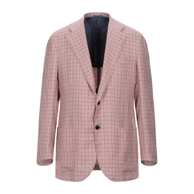 KITON テーラードジャケット レッド 50 カシミヤ 56% / リネン 40% / シルク 4% テーラードジャケット