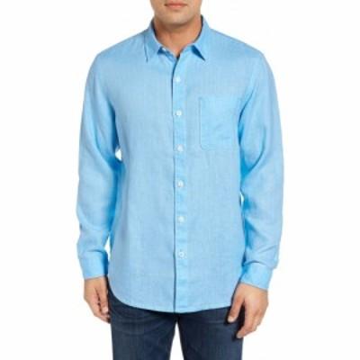 トミー バハマ TOMMY BAHAMA メンズ トップス Sea Glass Breezer Original Fit Linen Shirt Blue Yonder
