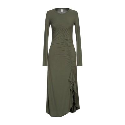 ピンコ PINKO 7分丈ワンピース・ドレス ミリタリーグリーン XXS レーヨン 94% / ポリウレタン 6% 7分丈ワンピース・ドレス