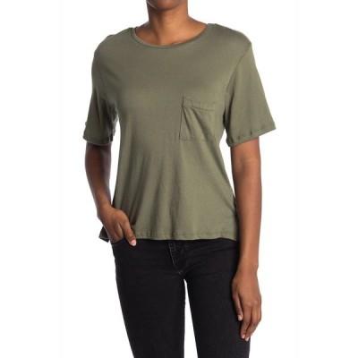エルエヌエー レディース Tシャツ トップス Brushed Pocket T-Shirt KALAMATA
