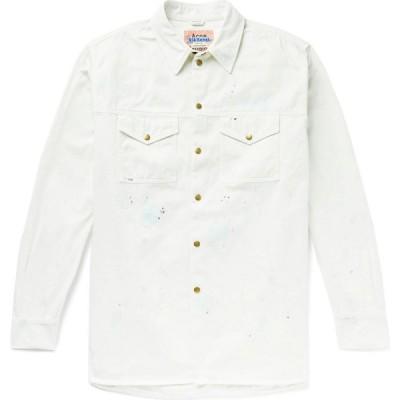 アクネ ストゥディオズ ACNE STUDIOS メンズ シャツ トップス Patterned Shirt White