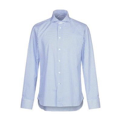 BRANCACCIO シャツ アジュールブルー 39 コットン 100% シャツ