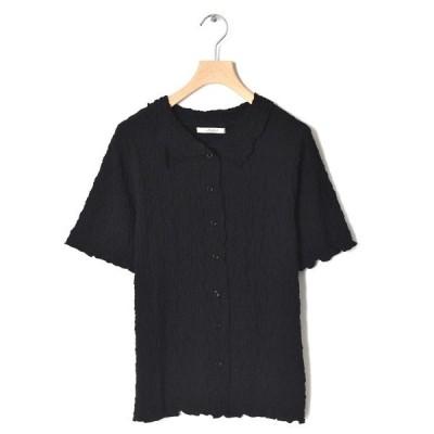シャツ ブラウス 【Alley】でこぼこレースシャツ