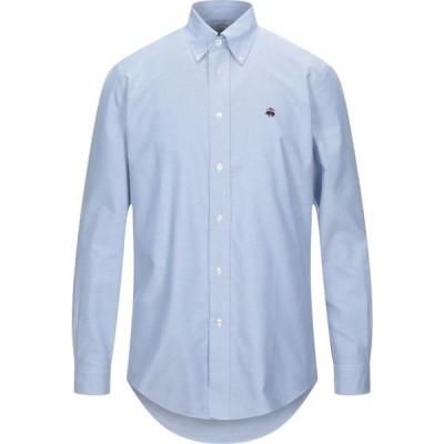ブルックス ブラザーズ BROOKS BROTHERS メンズ シャツ トップス solid color shirt Sky blue