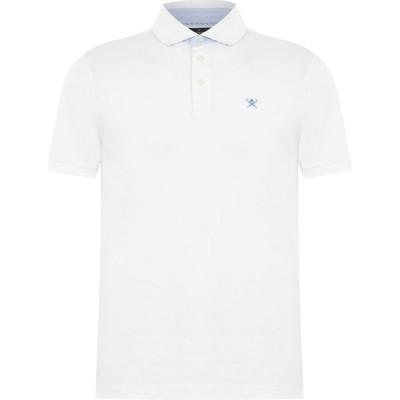 ハケット Hackett メンズ ポロシャツ トップス Coral Polo Shirt White
