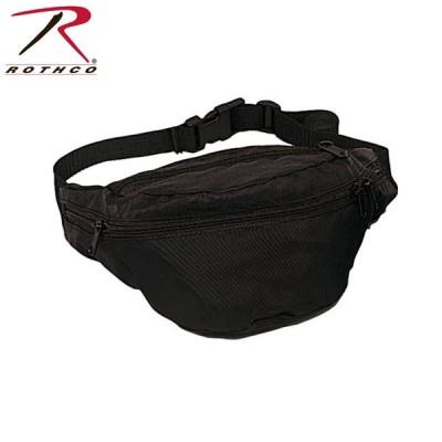ミリタリーバッグ ROTHCO ロスコ BLACK FANNY PACK ウエストバッグ 【8131】 ブランド
