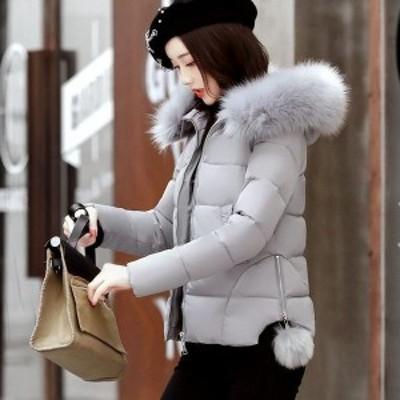 中綿ショートコート 中綿 フード付 ショートコート ジャケット ジャンパー 羽織 フェイクファー レディース アウター ショート丈 ジップ