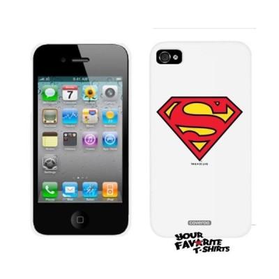 ケース カバー スキン 海外バイヤーセレクト Superman Symbol Iphone 4 / 4S White Thinshield Snap-On Case