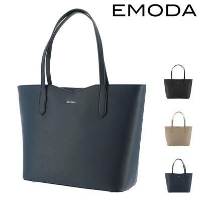 エモダ トートバッグ 横型 肩掛け A4 レディース  EM-9308 EMODA | ファスナー付き ビジネス