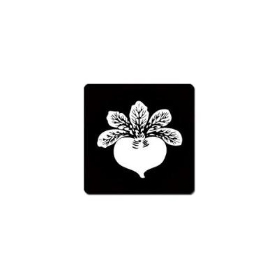 家紋シール 一つ蕪紋 24cm x 24cm KS24-3712W 白紋