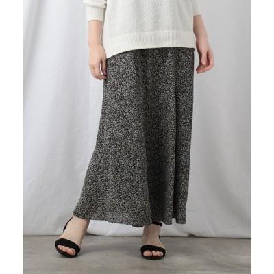 スカート 【洗える】ヴィンテージフラワーマキシスカート