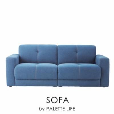 ソファ ソファー 3人掛け デニム 大きい ブルー