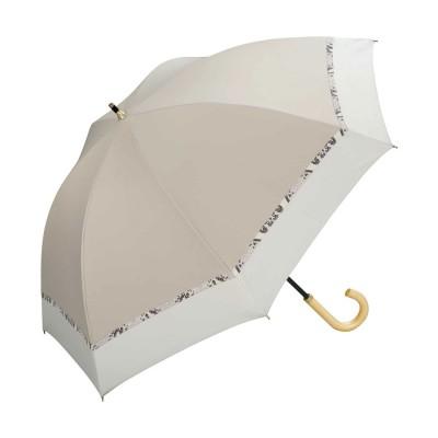 ダブルピーシー Wpc. 日傘 遮光バードケージバイカラーパイソンアクセント (ベージュ)