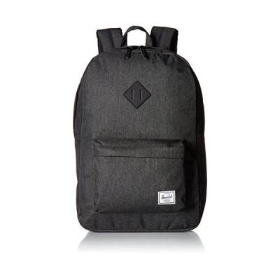 Herschel Heritage Backpack, Black Crosshatch/Black Rubber, Classic 21.5L