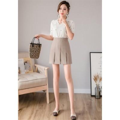 限定SALE価格 見逃し禁止  韓国ファッション 春夏 プリーツスカート Aワード ハイウエストスカート