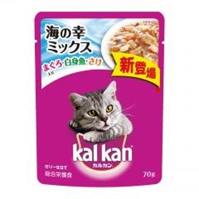 カルカン Kalkan パウチ 海の幸ミックス まぐろ・白身魚・さけ入り 70g ■ キャットフード ウェット 猫 ねこ ネコ