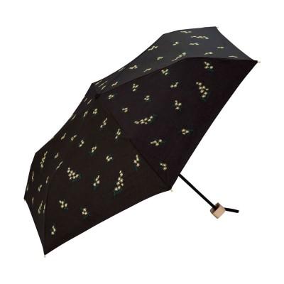 ダブルピーシー Wpc. 日傘 ミモザ刺繍mini (ブラック)
