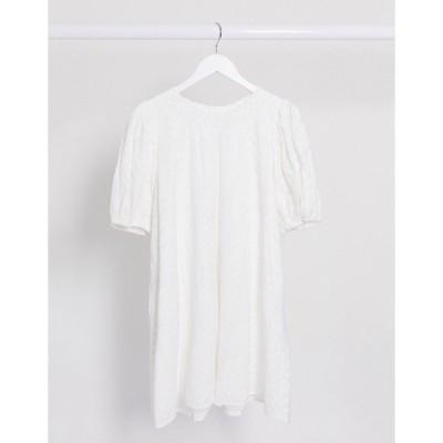 アンドアザーストーリーズ レディース ワンピース トップス & Other Stories organic cotton embroidered smock dress in white White