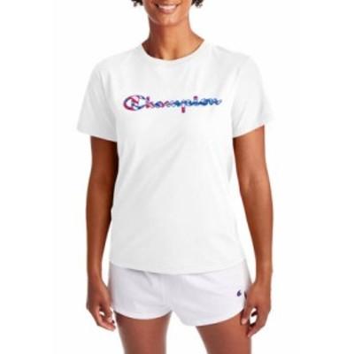 チャンピオン レディース Tシャツ トップス The Classic Graphic T-Shirt White