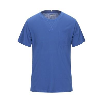プラスピープル (+) PEOPLE T シャツ ブライトブルー L コットン 100% T シャツ