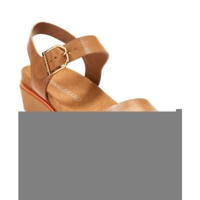 コールハーン サンダル シューズ レディース Women's OriginalGrand Flatform Wedge Sandals Black Leather / Nylon Wedge