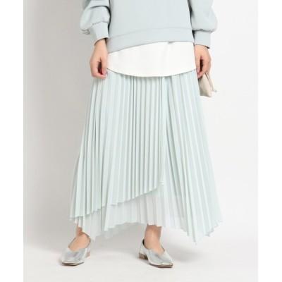 grove / インスタライブ紹介item【S-LL】シアーカットソーラッププリーツスカート WOMEN スカート > スカート
