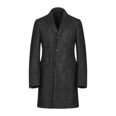 カルーゾ CARUSO コート ブラック 48 ウール 70% / 毛(アルパカ) 10% / モヘヤ 10% / シルク 5% / ナイロン 5%