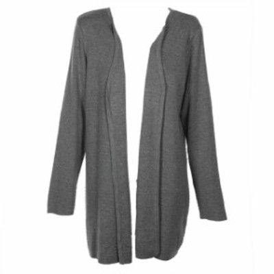 ファッション トップス Charter club ribbed ottoman grey peep toe long cardigan xl