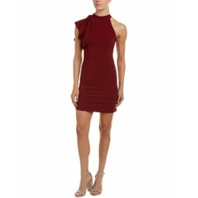 Red  ファッション ドレス Aiden One-Shoulder Sheath Dress L Red