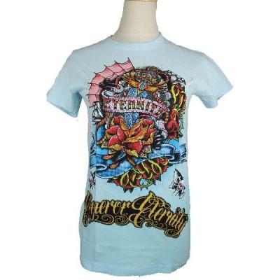 【メール便】送料無料!【ドクロ蝶々ラインストーンTシャツ】インパクト大!かなり奇麗な仕上がりです!