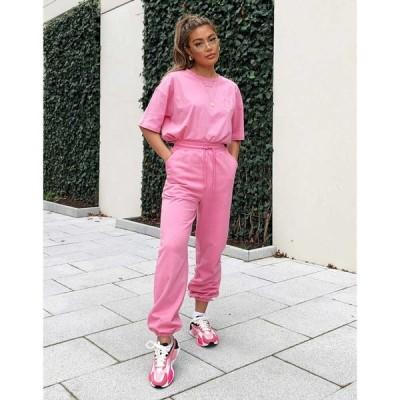 ウィークエンドコレクティブ Weekend Collective レディース ジョガーパンツ Asos Co-Ord Oversized Jogger With Logo In Washed Pink ウォッシュドピンク