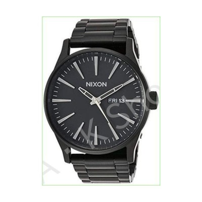 Nixon Sentry SS A356001-00. All Black Men's Watch (42mm Black Watch Case. 23-20mm Black Stainless Steel Band)【並行輸入品】