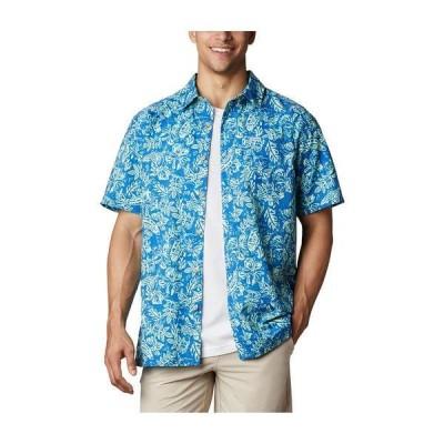 コロンビア シャツ トップス メンズ Men's PFG Super Slack Tide Camp Shirt 493-Vivid Blue, Flatslam