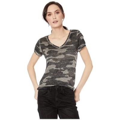 ラッキーブランド Lucky Brand レディース Tシャツ トップス Camo Burnout Tee Grey Multi