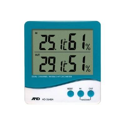 (株)エー・アンド・デイ A&D デュアルチャンネル温度・湿度計 AD5648A 1個【392-2057】