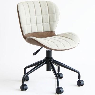デスクチェア オフィスチェア チェアー 椅子 イス キャスター付 昇降 ブラウン系 レトロ 送料無料
