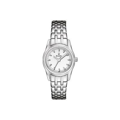ブローバ 96L127 レディース シルバー トーン ステンレス スチール ホワイト Texture ダイヤル  腕時計
