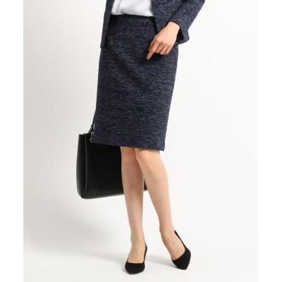 INDIVI(インディヴィ) [S]【ママスーツ/入学式 スーツ/卒業式 スーツ】ツィーディージャージタイトスカート