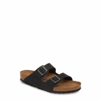 ビルケンシュトック BIRKENSTOCK メンズ サンダル スライドサンダル シューズ・靴 Arizona Soft Slide Sandal Black Oiled Suede